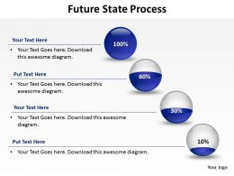 future state shown by transparent glass container filling up in stages powerpoint templates 0712