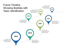 Future Timeline Showing Bubbles With Years Identification