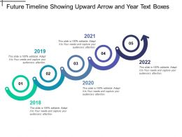 Future Timeline Showing Upward Arrow And Year Text Boxes