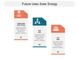 Future Uses Solar Energy Ppt Powerpoint Presentation Model Inspiration Cpb