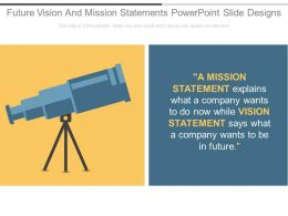 Future Vision And Mission Statements Powerpoint Slide Designs