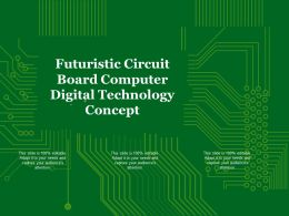 Futuristic Circuit Board Computer Digital Technology Concept