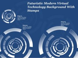 Futuristic Modern Virtual Technology Background With Stamps