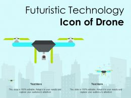 Futuristic Technology Icon Of Drone