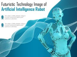 Futuristic Technology Image Of Artificial Intelligence Robot