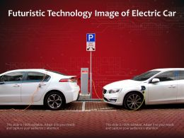 Futuristic Technology Image Of Electric Car