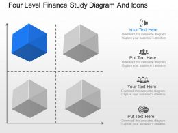 fv Four Level Finance Study Diagram And Icons Powerpoint Template