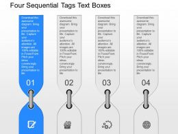 fv Four Sequential Tags Text Boxes Powerpoint Template