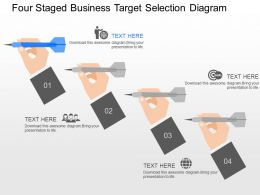 fv Four Staged Business Target Selection Diagram Powerpoint Template