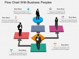fw Flow Chart With Business Peoples Flat Powerpoint Design