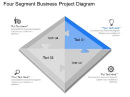 fw Four Segment Business Project Diagram Powerpoint Template