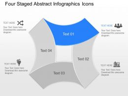 fw Four Staged Abstract Infographics Icons Powerpoint Template
