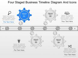 fw Four Staged Business Timeline Diagram And Icons Powerpoint Template