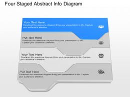 fx Four Staged Abstract Info Diagram Powerpoint Template