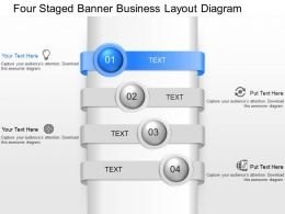 fx Four Staged Banner Business Layout Diagram Powerpoint Template