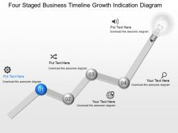 fx Four Staged Business Timeline Growth Indication Diagram Powerpoint Template