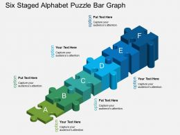 Fx Six Staged Alphabet Puzzle Bar Graph Powerpoint Template