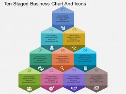 Fx Ten Staged Business Chart And Icons Flat Powerpoint Design