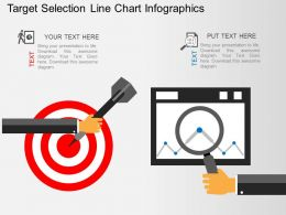 Fy Target Selection Line Chart Infographics Flat Powerpoint Design