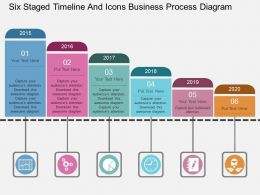 fz Six Staged Timeline And Icons Business Process Diagram Flat Powerpoint Design