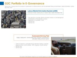 G2c Portfolio In E Governance Automated Driving Ppt Powerpoint Presentation Files