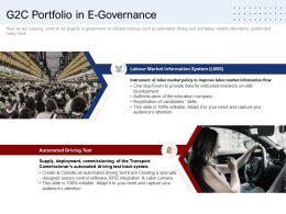 G2c Portfolio In E Governance Ppt Powerpoint Presentation Inspiration