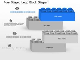 ga Four Staged Lego Block Diagram Powerpoint Template