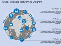 ga Global Business Networking Diagram Flat Powerpoint Design