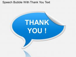 Ga Speech Bubble With Thank You Text Powerpoint Template