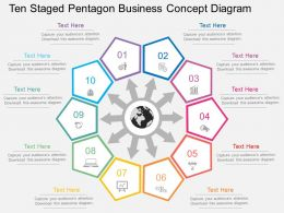 ga Ten Staged Pentagon Business Concept Diagram Flat Powerpoint Design