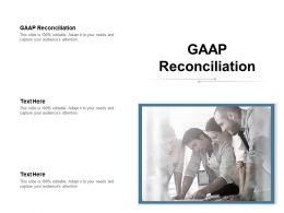GAAP Reconciliation Ppt Powerpoint Presentation Infographics Graphic Tips Cpb
