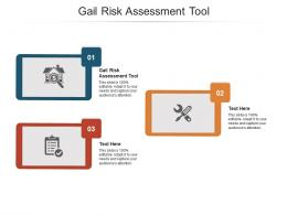 Gail Risk Assessment Tool Ppt Powerpoint Presentation Model Icons Cpb