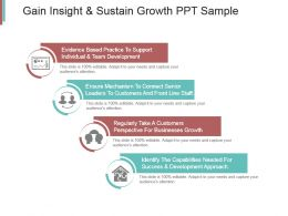 Gain Insight And Sustain Growth Ppt Sample