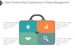 Gain Practical Work Experience In Project Management Ppt Icon