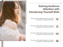 Gaining Audience Attention With Introducing Yourself Slide Infographic Template