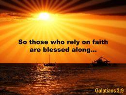 Galatians 3 9 So Those Who Rely On Faith Powerpoint Church Sermon