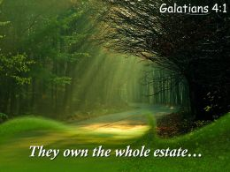 Galatians 4 1 They Own The Whole Estate PowerPoint Church Sermon