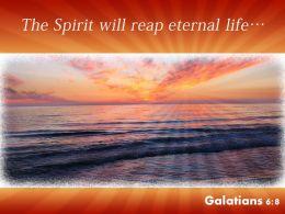 Galatians 6 8 The Spirit Will Reap Powerpoint Church Sermon