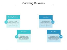 Gambling Business Ppt Powerpoint Presentation Layouts Icon Cpb