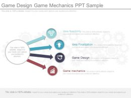 Game Design Game Mechanics Ppt Sample