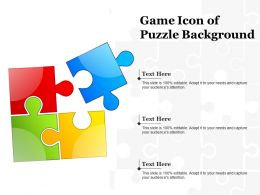 Game Icon Of Puzzle Background