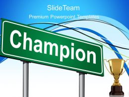 Game Of Strategy Powerpoint Templates Champion Business Ppt Slides