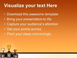Game Of Strategy Templates Podium With Golden Trophy Winner Success Sales Ppt Slides Powerpoint