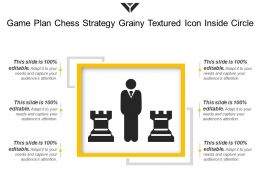 Game Plan Chess Strategy Grainy Textured Icon Inside Circle