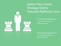 Game Plan Chess Strategy Grainy Textured Reflection Icon