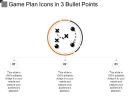 Game Plan Icons In 3 Bullet Points