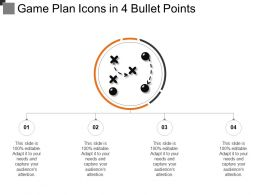 Game Plan Icons In 4 Bullet Points