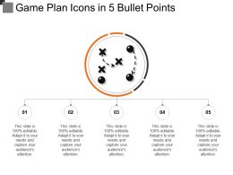 Game Plan Icons In 5 Bullet Points