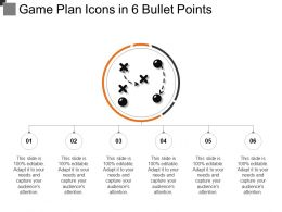 Game Plan Icons In 6 Bullet Points