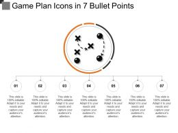 Game Plan Icons In 7 Bullet Points
